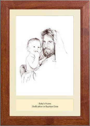 Jesus Amp Baby In Arms Framed Christian Art Baptism